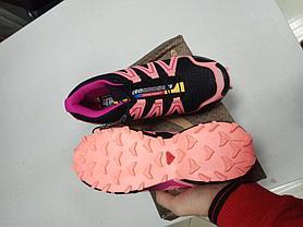 Кроссовки Salomon SpeedCross черно розовые, фото 3