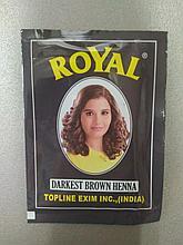Индийская хна Royal Henna, цвет Темно коричневый, Darkest Brown
