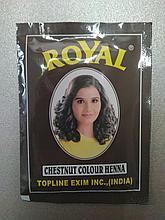 Индийская хна Royal Henna цвет Каштановый, Chestnut