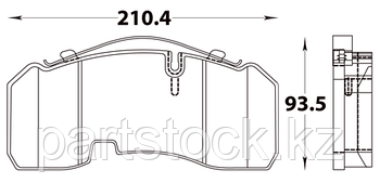 Колодки тормозные дисковые на / для BPW, БПВ, STEADY 52006