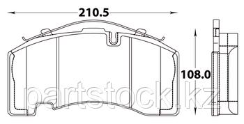 Колодки тормозные дисковые на / для BPW, БПВ, STEADY 52028
