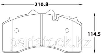Колодки тормозные дисковые на / для BPW, БПВ, STEADY 52052