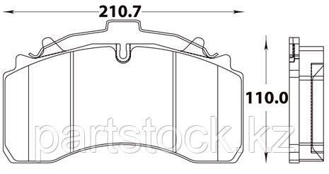 Колодки тормозные дисковые на / для SAF, САФ, STEADY 52023