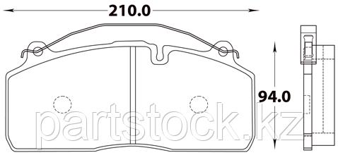 Колодки тормозные дисковые на / для SAF, САФ, STEADY 52055