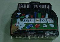 Покерный набор 200 фишек 4гр, с сукном, 2 колоды карт, фишки, Нескучные игры, фото 1