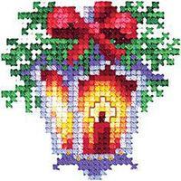 """Набор для вышивания крестом """"Новогодние игрушки. Фонарик"""""""