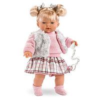 LLORENS Кукла малышка Изабель 33 см, блондинка в меховом жилете (звук), фото 1