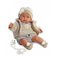 LLORENS Кукла Альваро 42см блондин в шапочке, фото 1