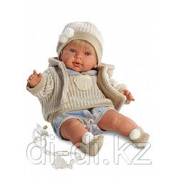 LLORENS Кукла Альваро 42см блондин в шапочке
