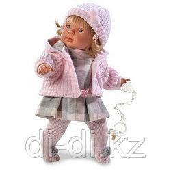 LLORENS Кукла Анна 42 см блондинка в розовом