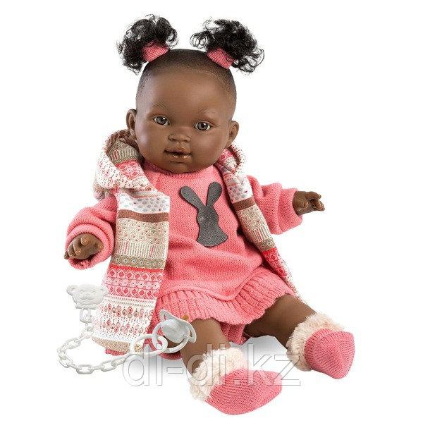 LLORENS Кукла Диара 38см, афро в роз.костюме
