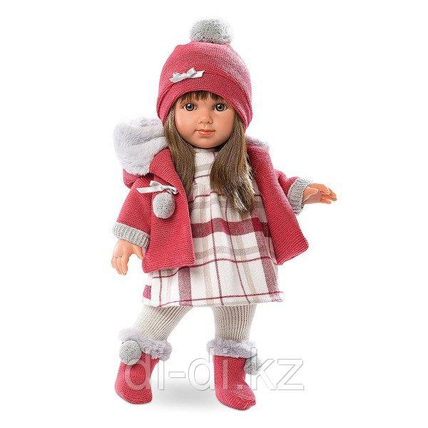 LLORENS Кукла Елена 35 см брюнетка в темно-розовом жекете