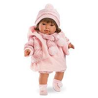 LLORENS Кукла Карла 42 см брюнетка в розовом, фото 1