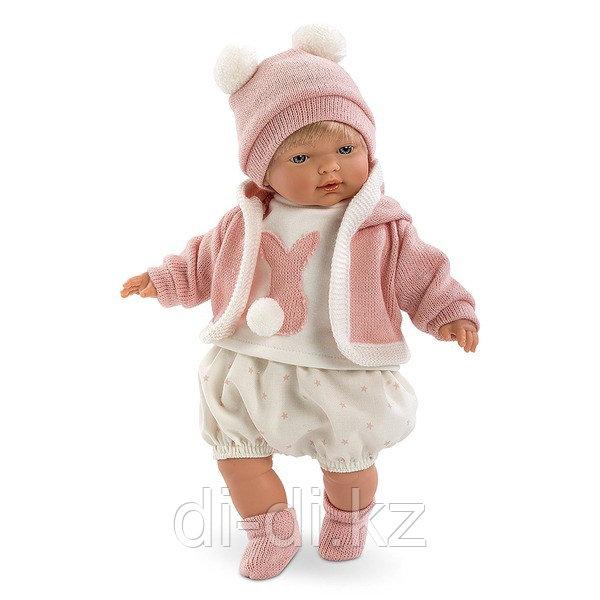 LLORENS Кукла малышка Кэрол 33 см блондинка в роз.костюмчике