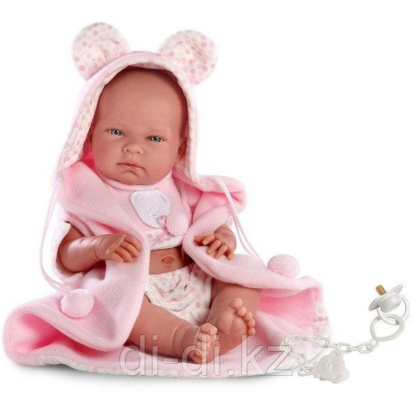 LLORENS: Кукла малышка Ника 38см в шапочке с ушками и с одеялом
