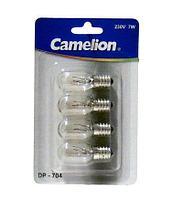 Лампа накаливания Camelion DP-704 E14 7W 220V для ночников прозрачная