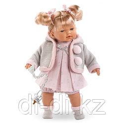 LLORENS Кукла малышка Роберта 33 см блондинка в сером жакете