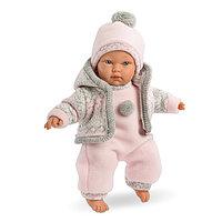 LLORENS Кукла малышка 30 см в розовом костюме, фото 1