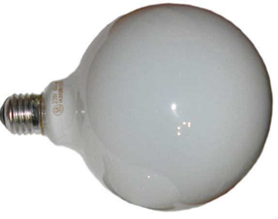 Лампа накаливания шаровидная - GE 60G125/O/E27