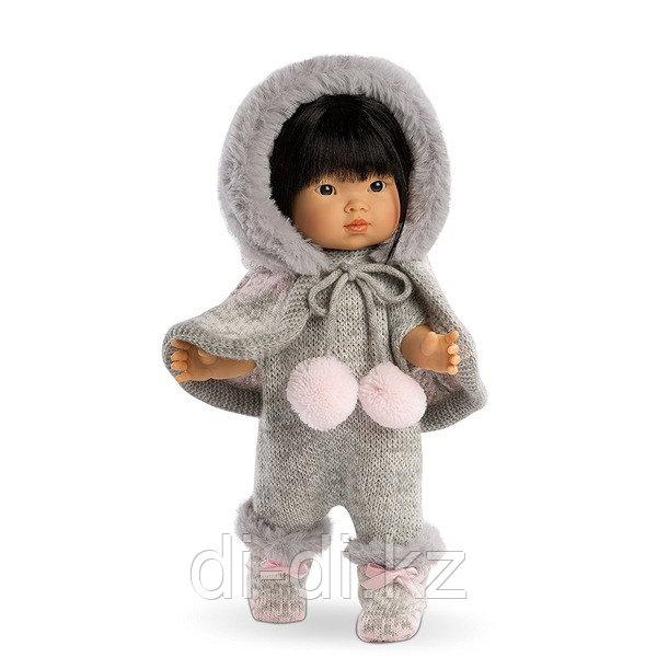 LLORENS Кукла Валерия 28 см азиатка в сером комбинезоне