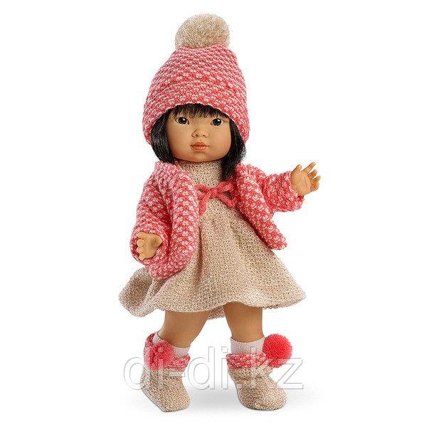 LLORENS Кукла Валерия 28 см азиатка в розовом костюме