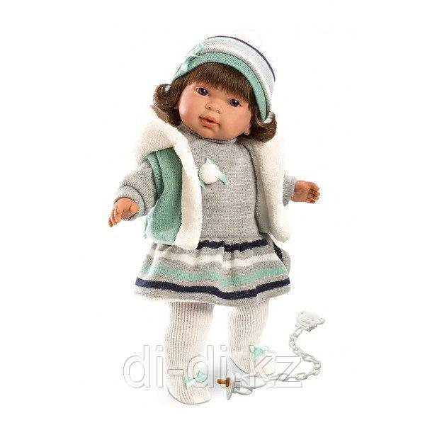 LLORENS Кукла Карла 42 см брюнетка в сером