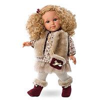 LLORENS Кукла Елена 35 см блондинка в меховом жилете