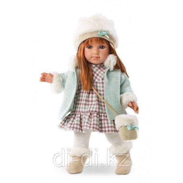 LLORENS Кукла Елена 35 см шатенка в голубом пальто