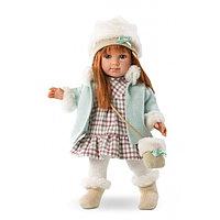 LLORENS Кукла Елена 35 см шатенка в голубом пальто, фото 1