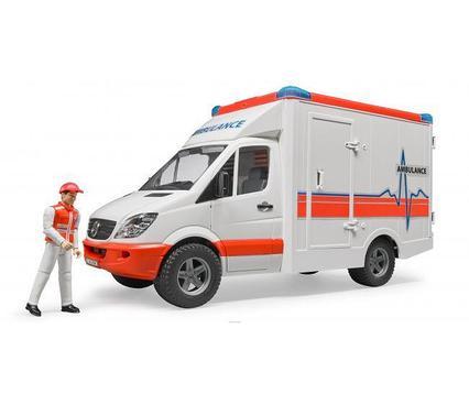 Брудер скорая помощь Bruder Скорая помощь с фигуркой водителя MB Sprinter  02-536