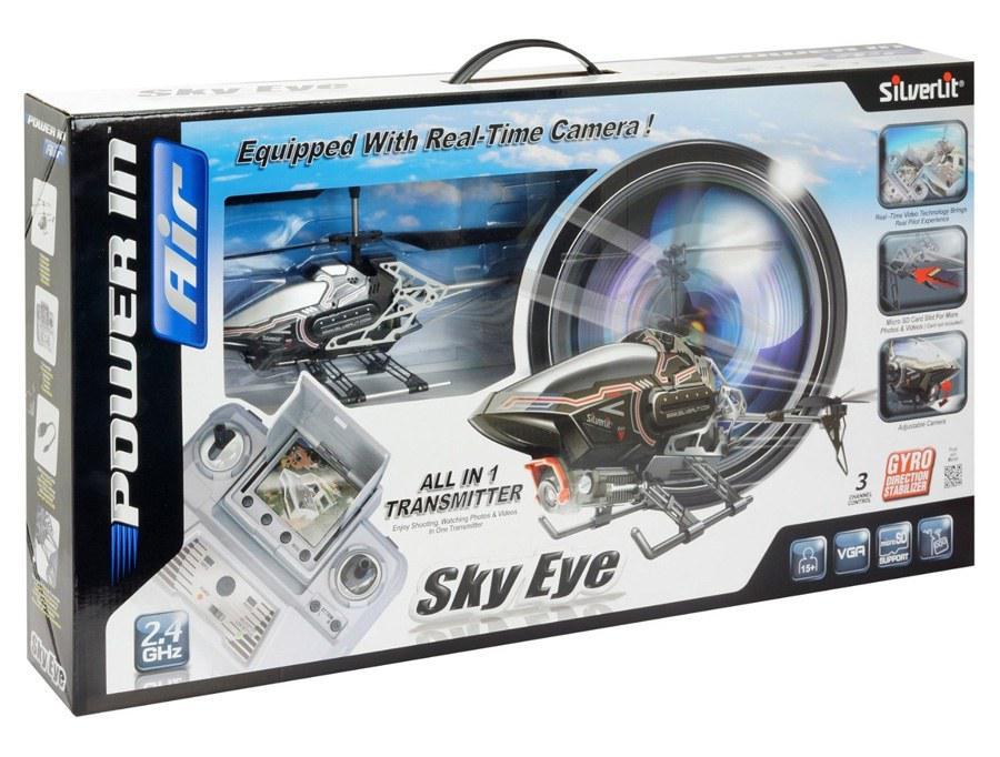Радиоуправляемый вертолет SILVERLIT 84602 Sky Eye с камерой 3х канальный