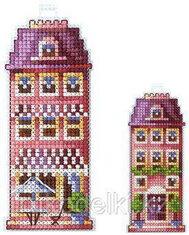 """Набор для вышивания крестом """"Домики. Розовый домик"""