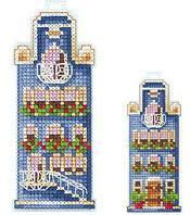 """Набор для вышивания крестом """"Домики. Синий домик"""""""
