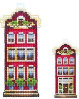"""Набор для вышивания крестом """"Домики. Красный домик"""""""