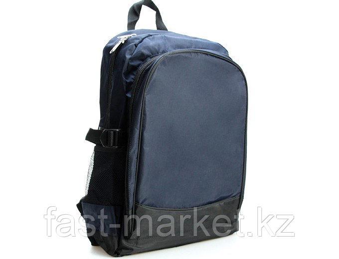Cпортивный рюкзак с большим карманом темно-синий