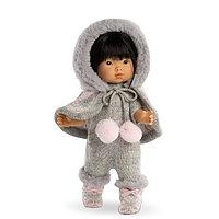 Кукла Валерия 28см, азиатка в сером комбинезоне Llorens