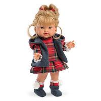 Кукла Валерия 28см, блондинка в клетчатом костюме Llorens