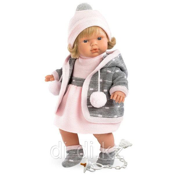 LLORENS Кукла Лола 38 см блондинка в сером пальто