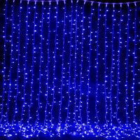 """Светодиодный занавес """"Дождь"""" 3*0,8 (цвет синий)"""