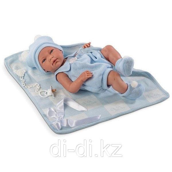 LLORENS Кукла малыш Нико 38 см с одеялом