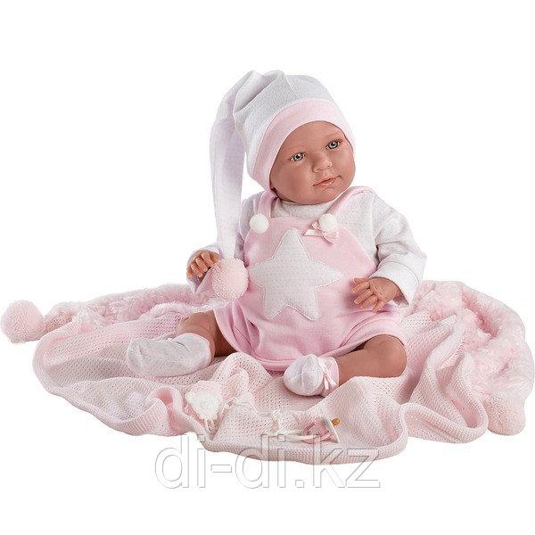 LLORENS Кукла малышка 40 см в колпачке с одеялом