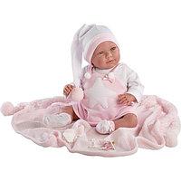 LLORENS Кукла малышка 40 см в колпачке с одеялом, фото 1