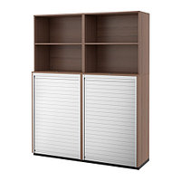 Шкаф д/хран с дверцей-шторой ГАЛАНТ серый ИКЕА, IKEA