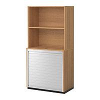Шкаф д/хран с дверцей-шторой ГАЛАНТ дубовый шпон ИКЕА, IKEA