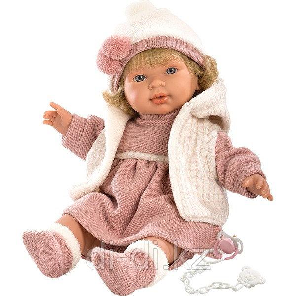 LLORENS Кукла Марина 42 см блондинка в розовом