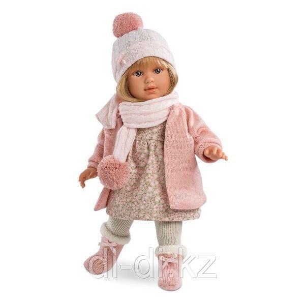 LLORENS Кукла Мартина 40 см блондинка в розовом пальто