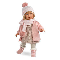 LLORENS Кукла Мартина 40 см блондинка в розовом пальто, фото 1