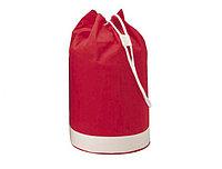 Двухцветная х/б сумка красная