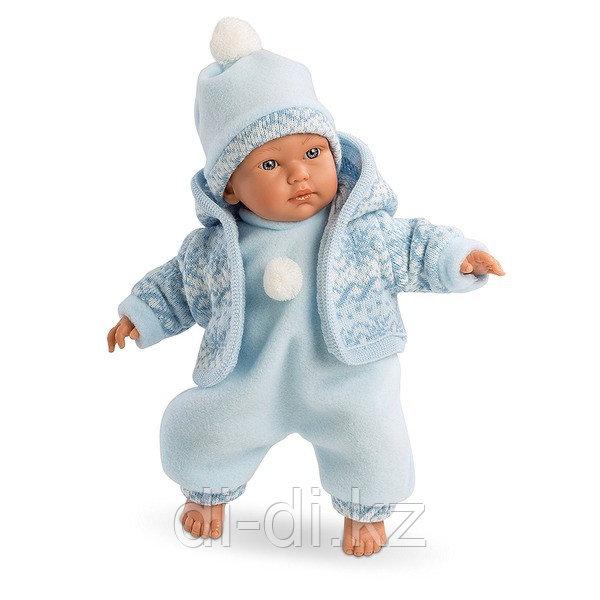LLORENS Кукла малыш 30 см в голубом костюме