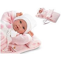 LLORENS Кукла новорожденная малышка 36 см с роз. конвертом, фото 1